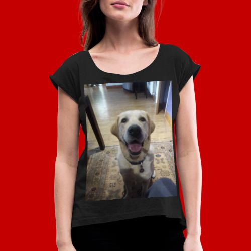 GANDLEBEAR! - Women's T-Shirt with rolled up sleeves
