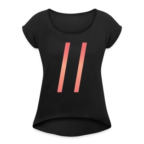 days_liten_uten-png - T-skjorte med rulleermer for kvinner
