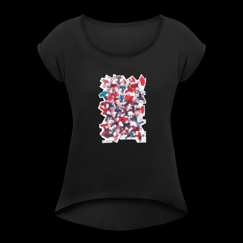 Color T BY TAiTO - Naisten T-paita, jossa rullatut hihat