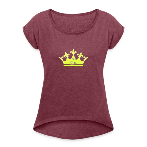 Team King Crown - Women's T-Shirt with rolled up sleeves