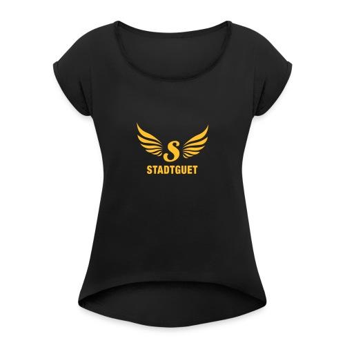 Brauerei Stadtguet - Frauen T-Shirt mit gerollten Ärmeln