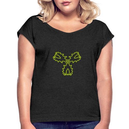 Fluxkompensator - Frauen T-Shirt mit gerollten Ärmeln