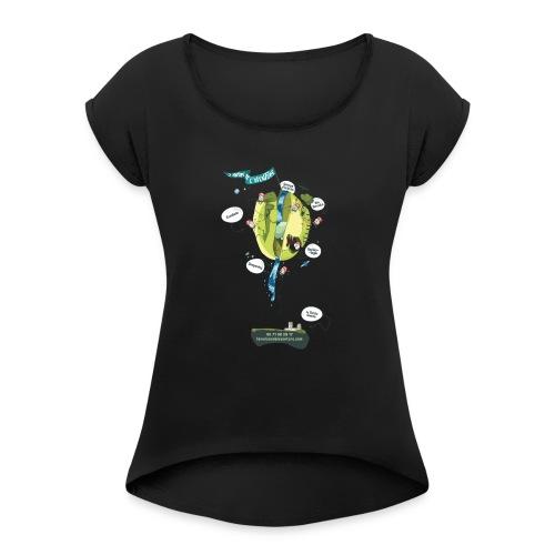 T-shirt Maison de L'aventure - T-shirt à manches retroussées Femme