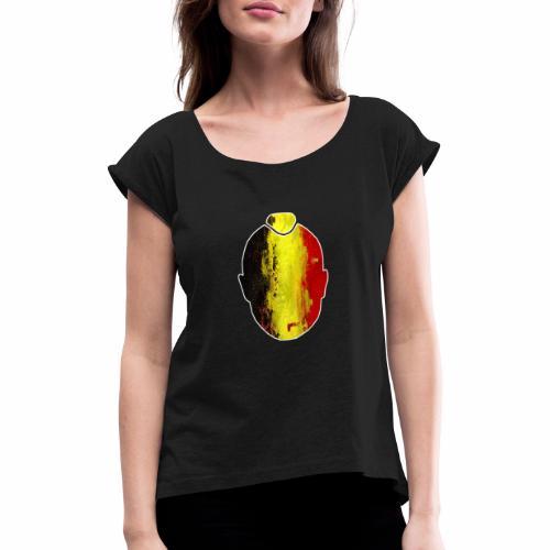 Ninja #ALLFORRADJA - Vrouwen T-shirt met opgerolde mouwen
