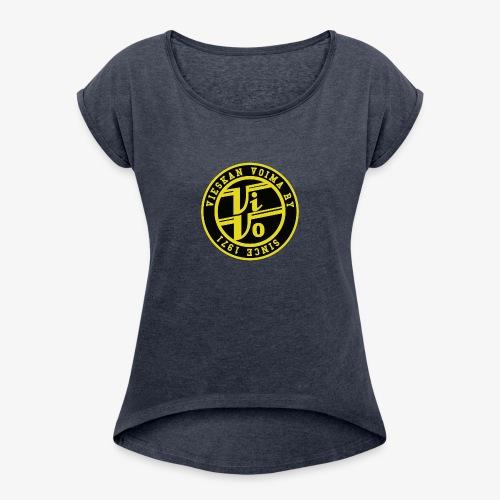 ViVo Since 1971 - Naisten T-paita, jossa rullatut hihat