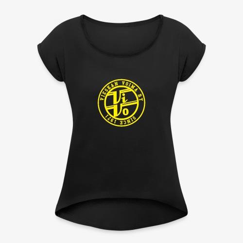ViVoPAITA transparent - Naisten T-paita, jossa rullatut hihat