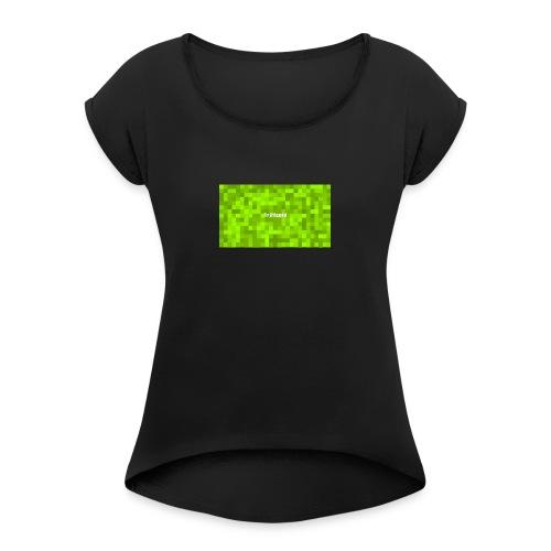 Youtube Triffcold - Frauen T-Shirt mit gerollten Ärmeln