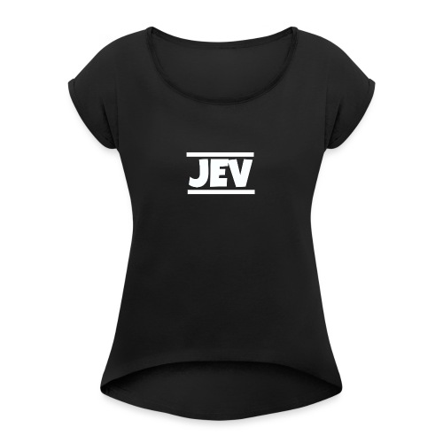 JEV - Women's T-Shirt with rolled up sleeves