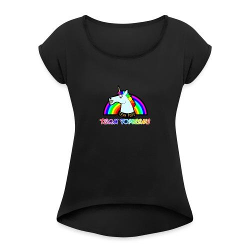 Logo officiel de la team forcing - T-shirt à manches retroussées Femme