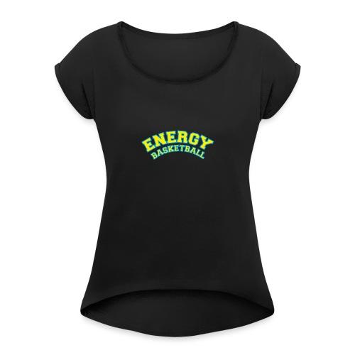 street wear logo giallo energy basketball - Maglietta da donna con risvolti