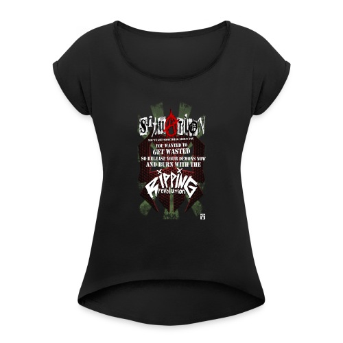 SITUATION - Women's T-Shirt with rolled up sleeves