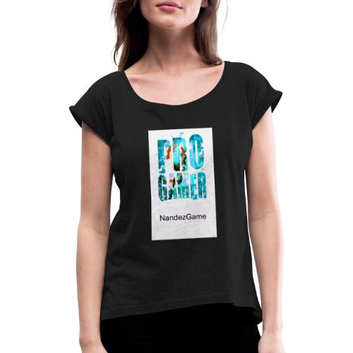 IMG 20200314 062919 - Frauen T-Shirt mit gerollten Ärmeln