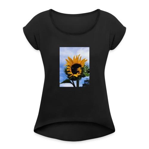 Girasoles - Camiseta con manga enrollada mujer