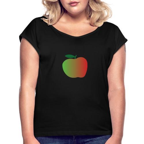apple - Camiseta con manga enrollada mujer