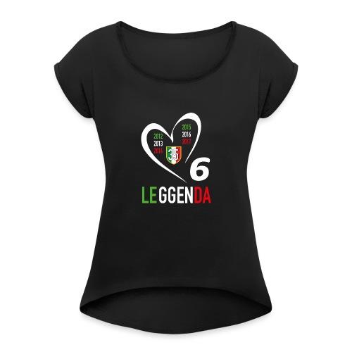 LE6GENDA - Maglietta da donna con risvolti