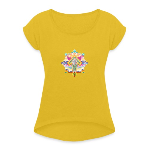 decorative - Women's T-Shirt with rolled up sleeves
