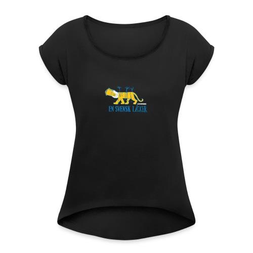 Transportgate - T-shirt med upprullade ärmar dam