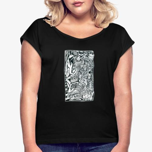 Anxiety Trip - Women's T-Shirt with rolled up sleeves