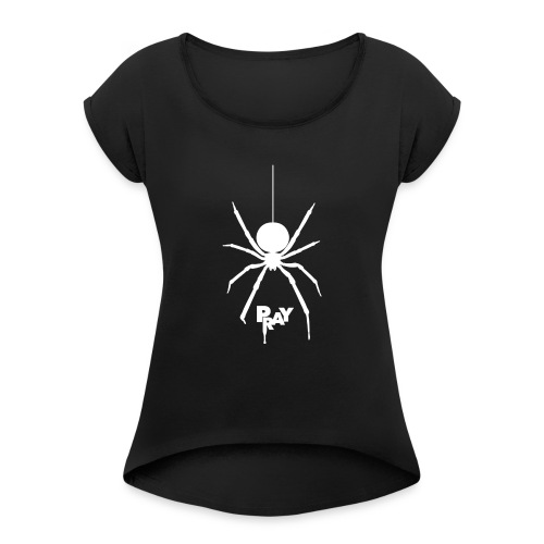 pray_white - Women's T-Shirt with rolled up sleeves