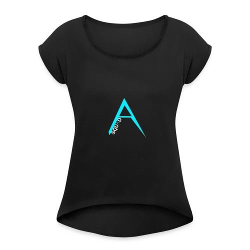 ANGISTEF SQUAD LOGO - T-shirt med upprullade ärmar dam