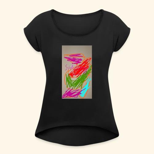 Shivams Kreation 1 - Frauen T-Shirt mit gerollten Ärmeln