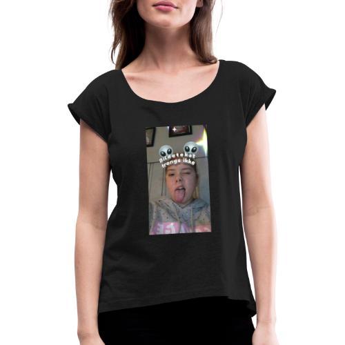 Mira (Alien hode) - T-skjorte med rulleermer for kvinner
