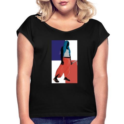 Samurai Girl - Maglietta da donna con risvolti