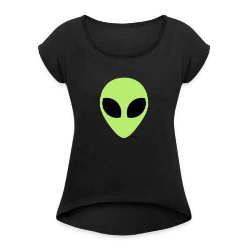 alien - Vrouwen T-shirt met opgerolde mouwen