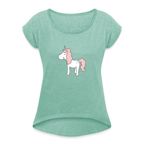 unicorn as we all want them - Dame T-shirt med rulleærmer