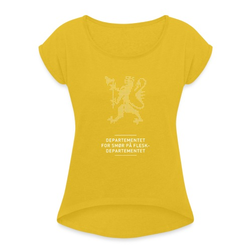 Departementsdepartementet (fra Det norske plagg) - T-skjorte med rulleermer for kvinner