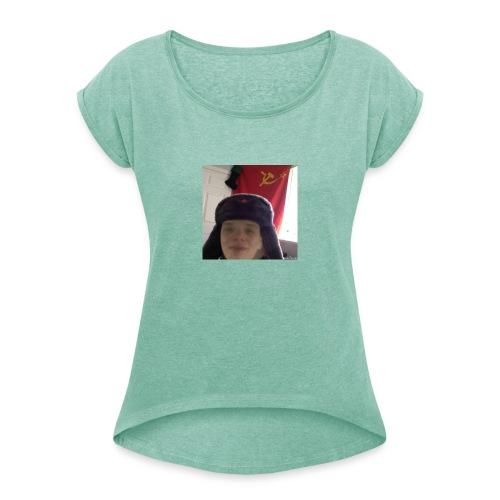 Kommunisti Saska - Naisten T-paita, jossa rullatut hihat