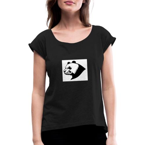 FTLpanda - T-shirt med upprullade ärmar dam