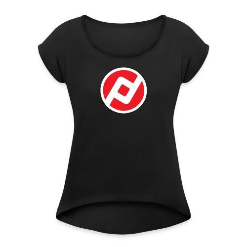 Anonymous - Frauen T-Shirt mit gerollten Ärmeln