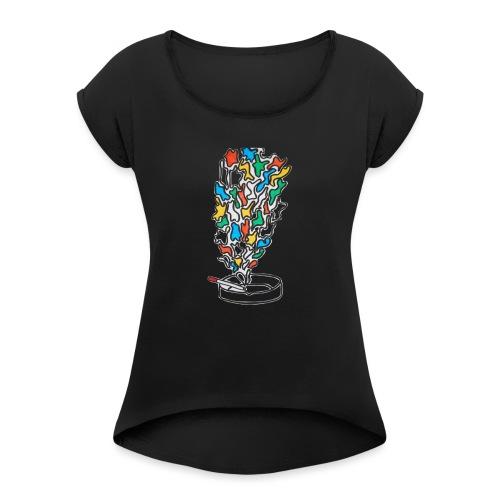Cigarolors - T-shirt à manches retroussées Femme