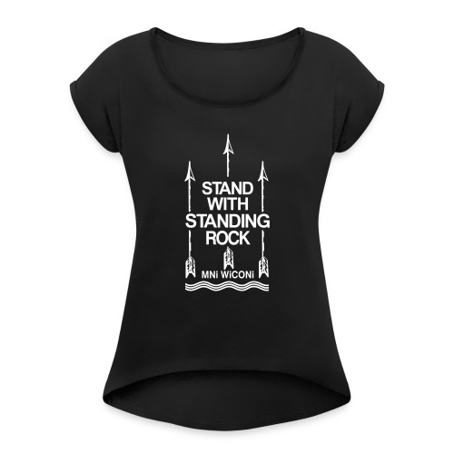 Stand - Dame T-shirt med rulleærmer