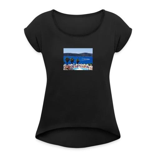 IMG 0720 - Dame T-shirt med rulleærmer