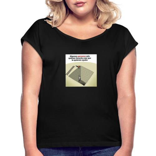 Famiturro - Camiseta con manga enrollada mujer