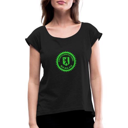 Eisspeedwayunion Logo grün zweiseitig - Frauen T-Shirt mit gerollten Ärmeln