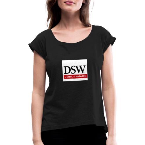 DSW+JÖRLENMARK - T-shirt med upprullade ärmar dam