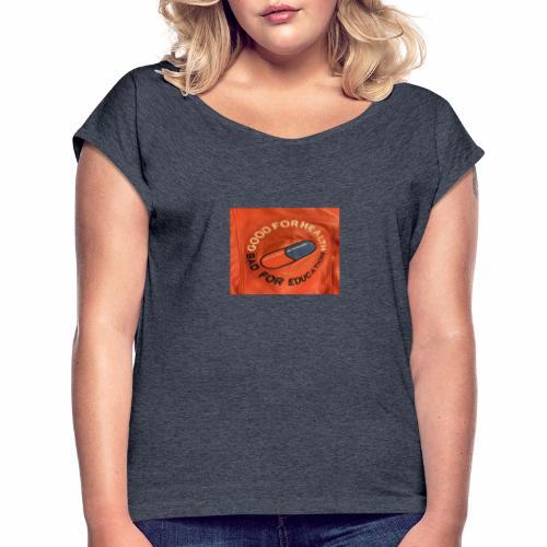 Bad pill/good pill - T-shirt med upprullade ärmar dam
