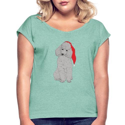 Poodle toy G - christmas - Dame T-shirt med rulleærmer
