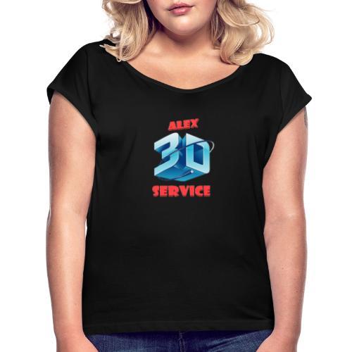 logo emporesa de impresion 3d en albacete - Camiseta con manga enrollada mujer