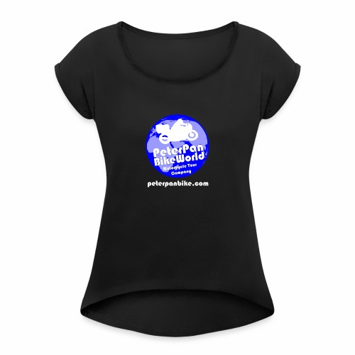 Black Is Beautiful :] - Women's T-Shirt with rolled up sleeves