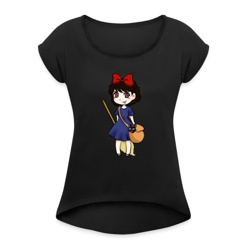Chibi Kiki - Women's T-Shirt with rolled up sleeves