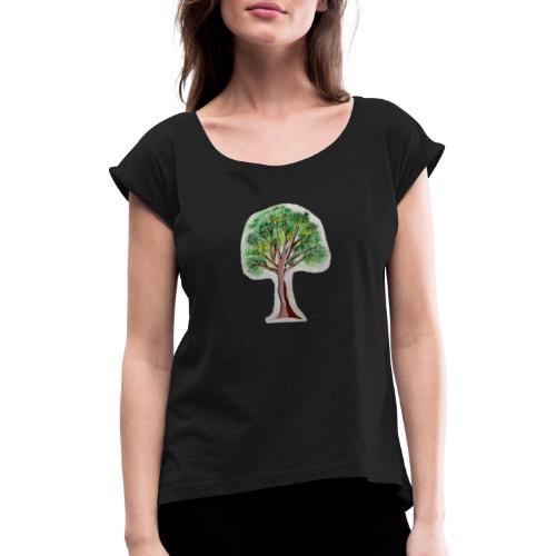 Tree nature amazon - Camiseta con manga enrollada mujer