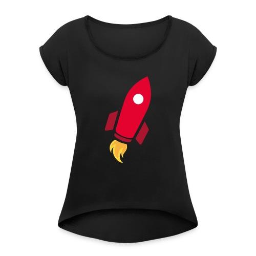 REDROCKET - T-shirt à manches retroussées Femme