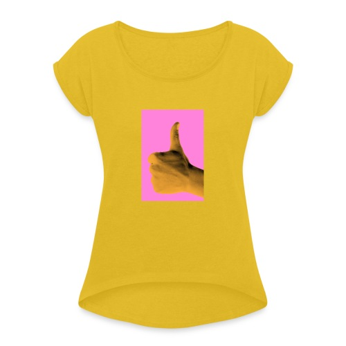 Like - Koszulka damska z lekko podwiniętymi rękawami