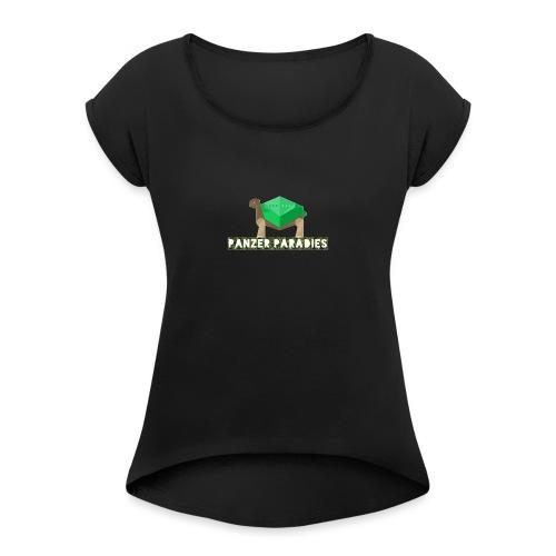 Schildkröten Paradies - Frauen T-Shirt mit gerollten Ärmeln