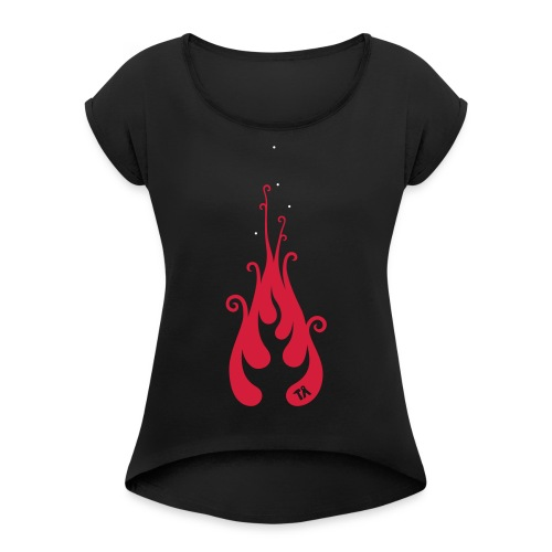 Four logo - Women's T-Shirt with rolled up sleeves
