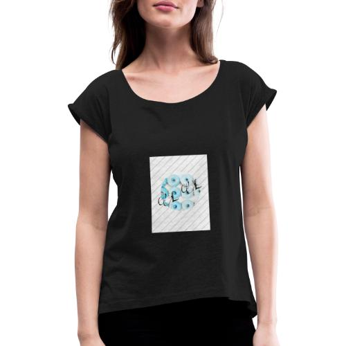 my Logo - Frauen T-Shirt mit gerollten Ärmeln